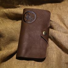 Handmade Crazy Horse Leather Men Wallets Natural Cowhide Waxed Vintage Men Purse Brown Oiled Men's Clutch Wallet Money Bag