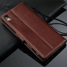 Buy Premium Leather Cover Card Holder Holster Z5 Flip Case Sony Xperia Z5 Dual E6603 E6633 E6683 Photo Frame Fashion Phone for $8.99 in AliExpress store