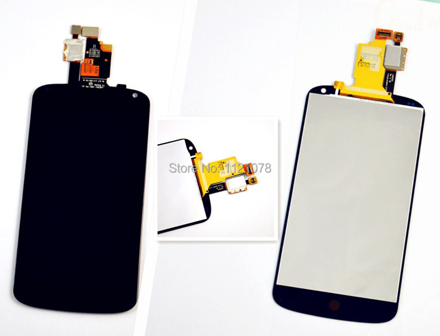 100% Quality For LG Optimus E960 Google Nexus 4 E960 LCD Touch Screen with Digitizer Assembly . Free shipping !!!