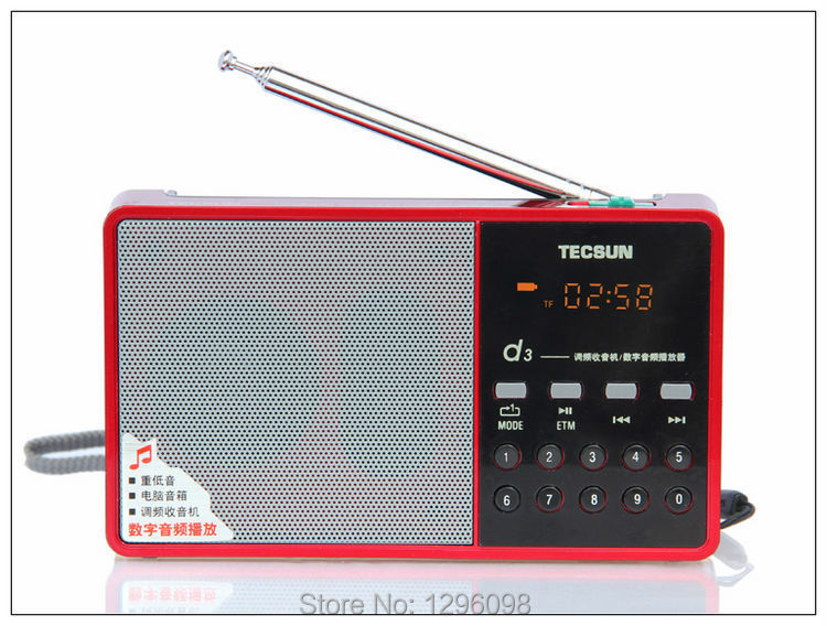 TECSUN D3 TF Card MP3 Player FM Radio(China (Mainland))