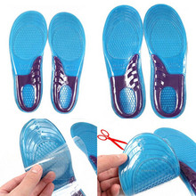 2016 Comfortable Women Massaging Gel Orthotic Insole Work Boots Heel Pain And Plantar Fasciitis(China (Mainland))
