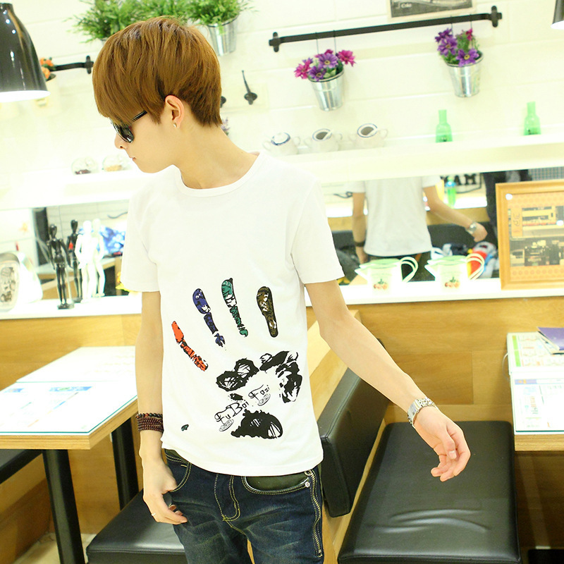 T Shirt Men Tshirt Fashion 2015 Tee Shirts Casual Mens Funny Short Sleeve O Neck Character - GUANHE Store store
