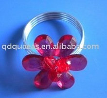 napkin ring Qn100402 red acrylic beades(China (Mainland))