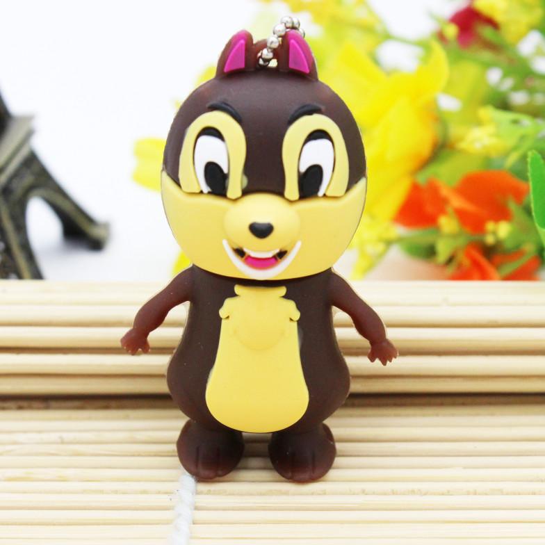 100% Real capacity 4GB 8GB 16GB 32GB lovely squirrel Pendriver USB Flash drive Memory thumb flash Drive Cartoon Squirrel cute(China (Mainland))