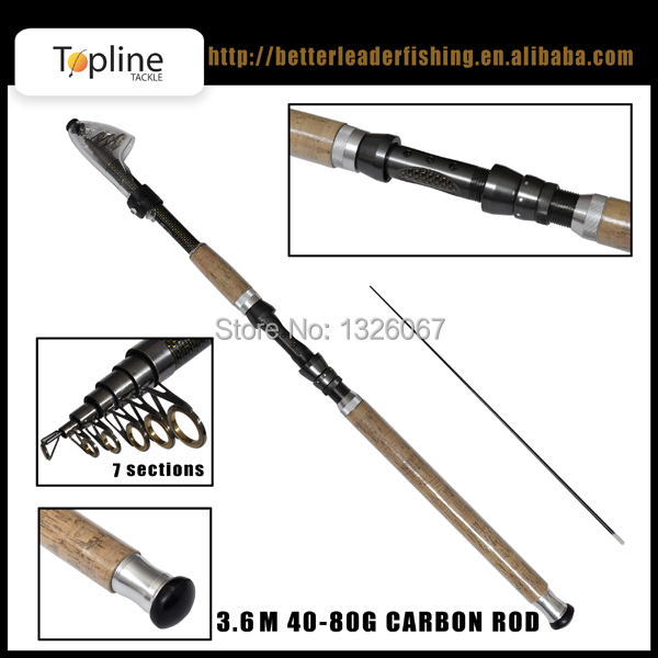3.6M 7 Sections Portable Telescopic Carbon Fishing Rod Travel Spinning Fishing Pole for Outdoor Sports(China (Mainland))