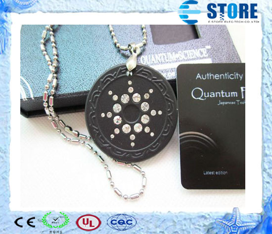 Quantum Scalar Energy Pendant with Germanium & Far Infrared & Tourmaline Stone on back + Ion Card, Free Shipping(China (Mainland))