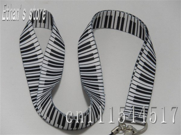 Free shipping Brand New piano keyboard lanyards fingerboard necklace for ID,key,MP3/4/5(China (Mainland))