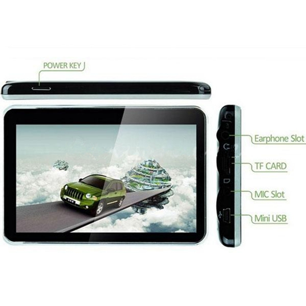 New Super Quality Durable 4.3 inch 4 GB Car 4GB Dual Core SAT NAV LCD Touch Screen GPS Navigation FM Free Map(China (Mainland))