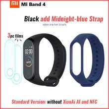 מקורי שיאו mi mi Band 4 חכם Bluetooth 5.0 צמיד כושר צמיד AMOLED צבע מגע מסך מוסיקה AI קצב לב(China)