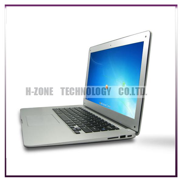 2014 Brand New 14.1 inch Ultra Slim Notebook 2G RAM& 320G Intel ATOM N2600 Dual Core 1.6Ghz Cheap Ultrabook Laptop HZ-A3(Hong Kong)
