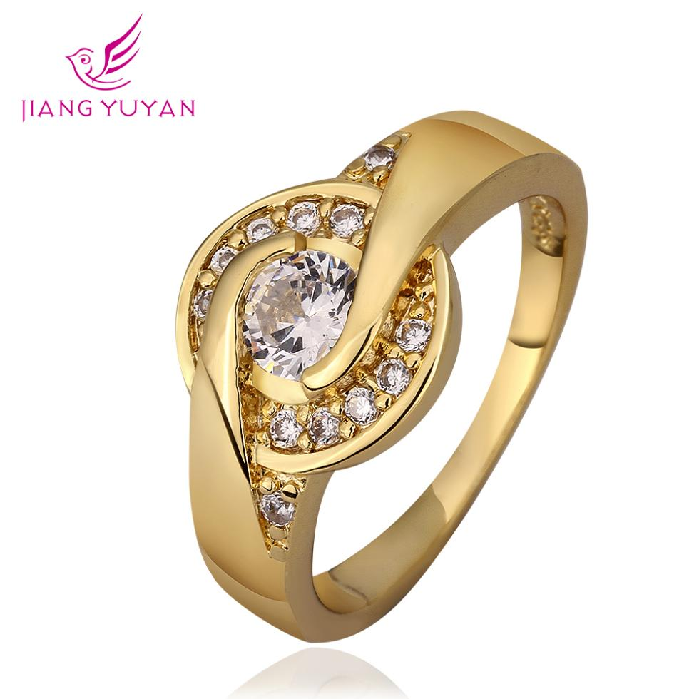 women's rings 18K gold plated flower jewelry - Guangzhou PinCe household products co., LTD store