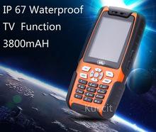 original L9 Mobile Analog TV phone IP67 Rugged Waterproof phone shockproof Senior old man Phone Dual Sim GSM Russian keyboard(China (Mainland))