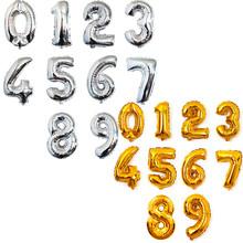 Бесплатная доставка! горяч-продавая 40-дюймов алюминиевый золото серебро день рождения воздушные шары партии украшения цифры оптовая игрушка, воздушные шары