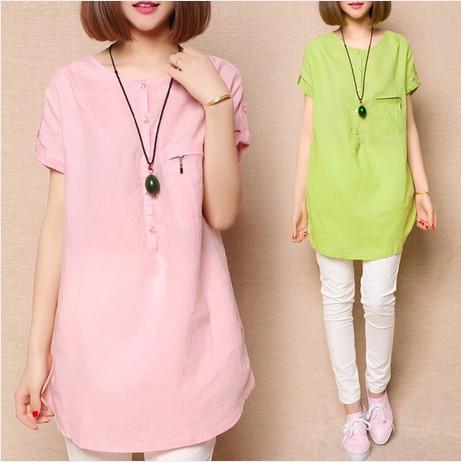 Женщины лето свободного покроя блузка 2015 с