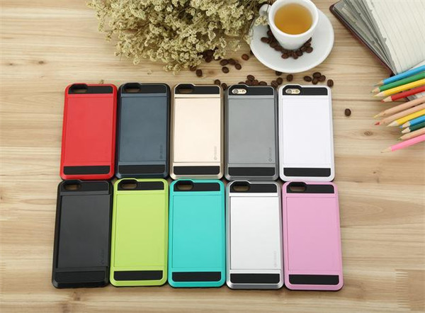 """2015 HOT fashion PC + TPU Card pocket ShockProof Slim Hybrid wallet Style Phone case cover for apple iPhone 5S 4.0"""" 6 4.7"""" EC727(China (Mainland))"""