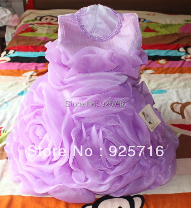freeshipping baby big flower party dress dance dress good quality <br><br>Aliexpress