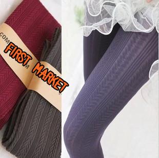 Free Shipping Winter Women's 140D Velvet Pantyhose Fashion Slim Hemp Type Grain Pattern Stockings tight For Women(China (Mainland))