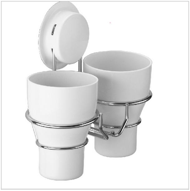 Stainless steel wall toothbrush holder set + 2 wash tooth brush mug Storage Cup decorative bathroom shelf bathroom accessories(China (Mainland))