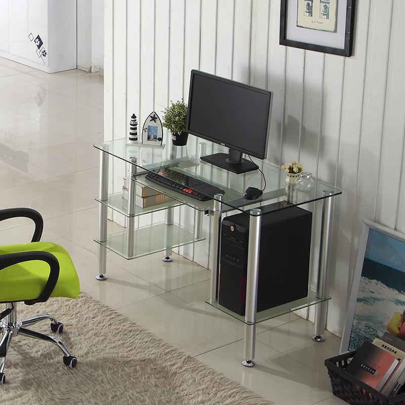Compra computadora de escritorio de vidrio online al por for Muebles oficina cristal