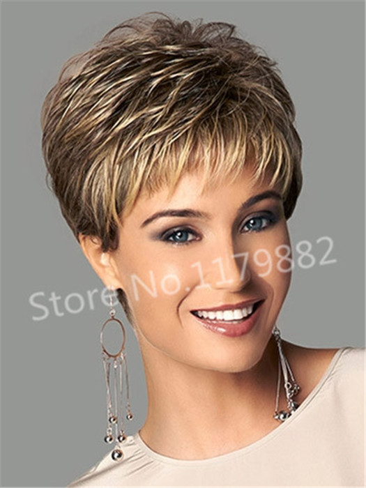 Fashion Stylish Synthetic Straight Ombre Blonde Short Hair