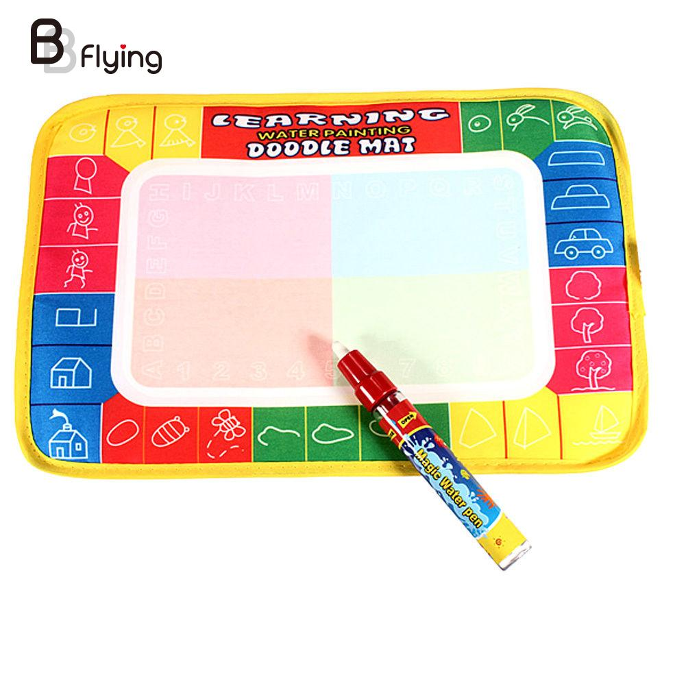 Water Drawing Painting Magic Doodle Aquadoodle Mat Board & Pen Kids Toy(China (Mainland))