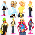 (Mix Delivery)Handmade Garments Candy Set Swimsuit Tops Coat Lace Skirt Silk Stocking Equipment Outfit For Kurhn Barbie Doll