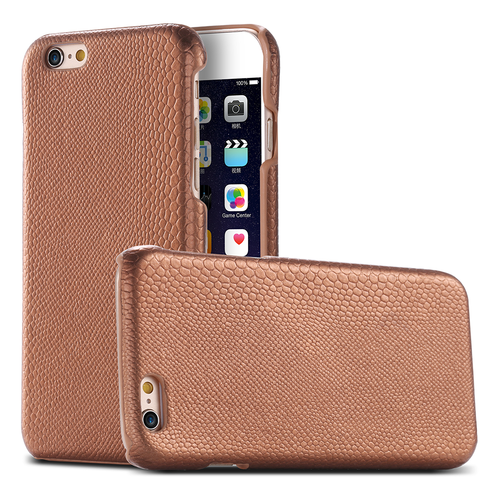 For iPhone 6 6S Cases Gold Fashion Lizard Skins PU Leather Case For Apple iPhone 6 6S 4.7 Slim Hard Shock Proof Phone Cover Capa(China (Mainland))