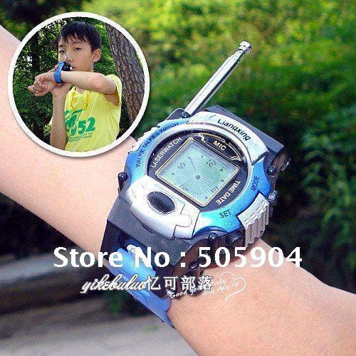 Only For Children Holiday Gift Wrist Digital Watch Walkie Talkie Ham radio electronic watch baby Child radio toys(China (Mainland))