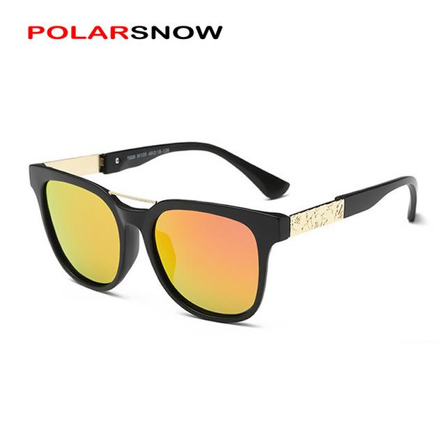 POLARSNOW Мода 2016 Vintage Марка Поляризованные Детские Солнцезащитные Очки Мальчики Девочки Высокое Качество Солнцезащитные Очки для Детей UV400 Óculos Очки