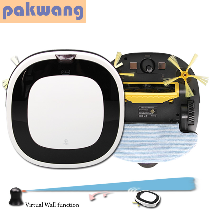 Pakwang white D5501 vacuum cleaner wet & dry robot intelligent with Remote control, Self charge, Anti fall vacuum cleaners(China (Mainland))