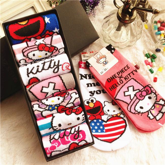 summer style women dress girls socks and Hello Kitty socks(China (Mainland))