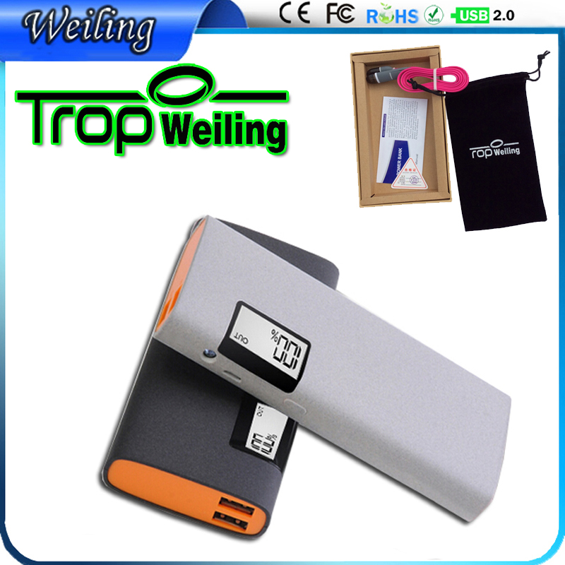 Tropweiling 18650 power bank 15000mah mobile charger pover bank portable phone battery charger for All phones(China (Mainland))