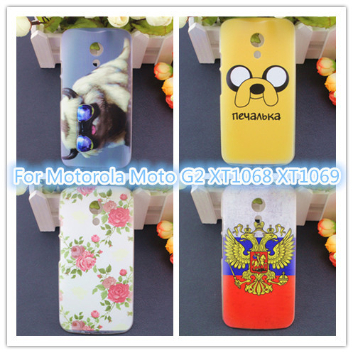 Fashion Colorful Back Cover Case Motorola Moto G2 G 2 XT1068 XT1069 Cell Phones Hard - Shenzhen arctic snow Technology Co., LTD store