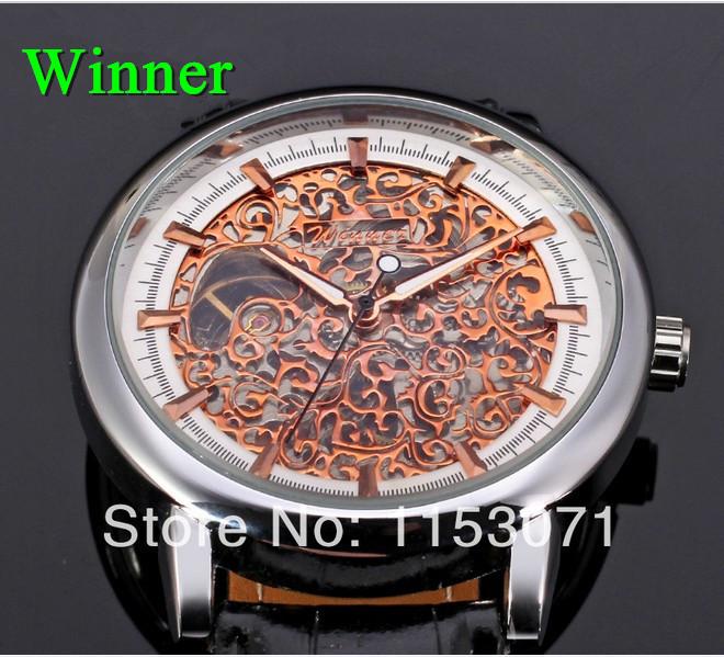 5pcs top quality winner women watches 2014 waterproof skeleton Mechanical watches men women fashion relegio dress wristwatches<br><br>Aliexpress