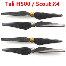 Carbon Fiber 9443 Self-locking Propellers CW / CCW 2 Pairs/ Set for Walkera Tali H500 / Scout X4 Parts Free Shipping