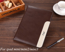New Luxury supper thinner case Cover For Apple ipad mini pu Leather Case Stand cover for ipad mini2 retina mini3 With Holder(China (Mainland))