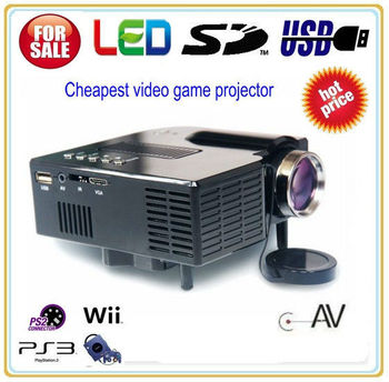 Portable Mini LED Projector Cinema Theater,All in One Mini Projetor Proyector Beamer with AV SD and USB input