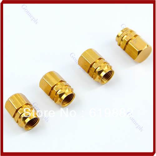 W110free доставка оптовая продажа 40 шт./лот золото шестиугольная шин Ventil клапан для авто автомобиль , новый