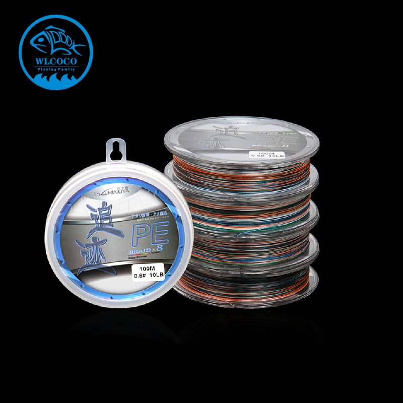 Trulinoya PE Braided Wire Colorful One Meter One Color Fishing Line 100 Meters For 8 Strands(China (Mainland))