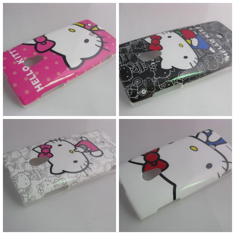 7 Patterns Hello Kitty Cartoon Hard Phone Case Cover for Sony Ericsson Xperia X10 X10i(China (Mainland))