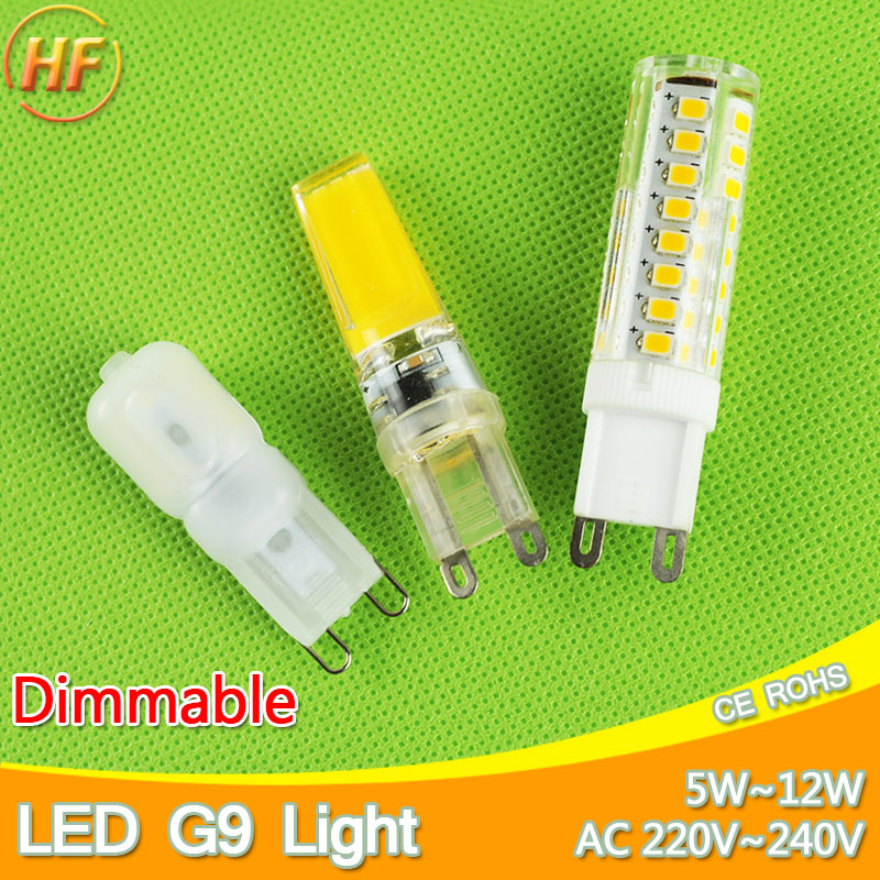 5w~12w Dimmable led G9 220V lamp G9 Replace 30~70W halogen SMD 2835 LED G9 light Led bulb lamp Crystal Lampara Bombilla Ampoule(China (Mainland))