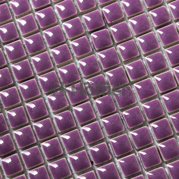 "Гаджет  shipping free!  glazed ceramic TILE 3/8"", purple,  bathroom shower mosaic,  HME7064, 11 sq ft/lot None Строительство и Недвижимость"