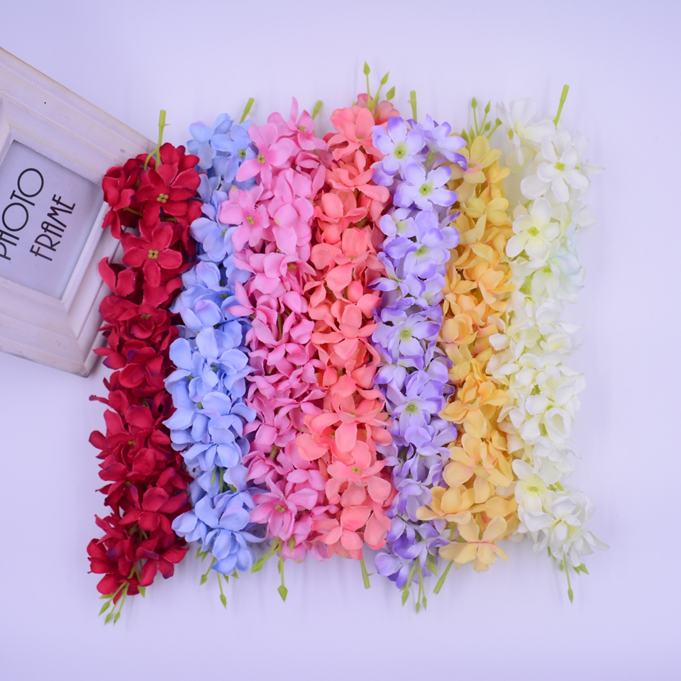 10pcs/lot Valentine Gift Artificial Fragrant harmless Plastic Long hydrangea flower for wedding car party decoration(China (Mainland))