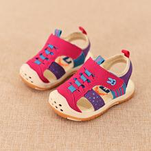 Los bebés de las sandalias suave suela de goma antideslizante Todder zapatos de verano para infantil 2016 niños zapatos de Prewalker del cuero 22-27 marca(China (Mainland))