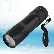 Mini Aluminum Portable UV Flashlight Violet Light 9 LED Torch Lamp outdoor camping usful tools - Shenzhen Chen Yao Electronic Technology Co., Ltd store