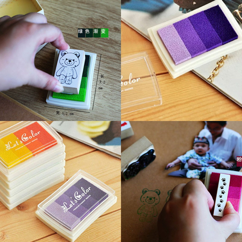 Free shipping New 6style Craft Ink pad/Ink stamp pad/Colorful Cartoon Ink pad/Inkpad set for DIY funny work(China (Mainland))