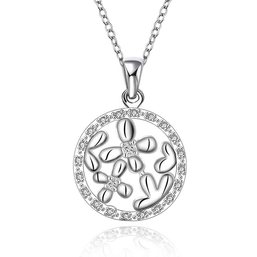 New Beautiful Fashion silver plated pendant circle iohle sed perfume women Factory Wholesale SMTN610(China (Mainland))
