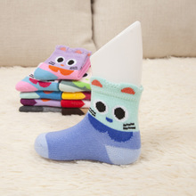 Hot  Sales New design Korean children cotton socks spring European and American cartoon baby warm socks in tube socks wholesale