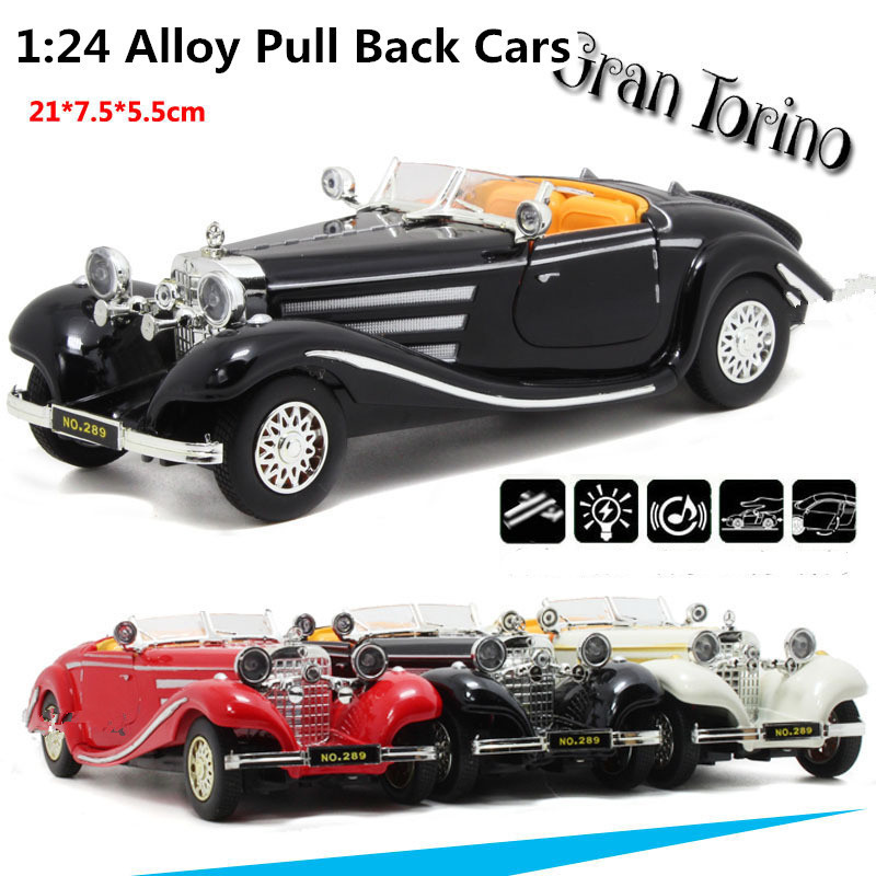 2015 Supercar Deals Antique Classic Car 1:24 scale alloy pull back model car, Retro Diecast cars toy,Children's gift,free shippi(China (Mainland))