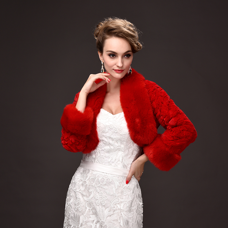 wholesale 2016 new winter women coat wedding bride faux fur shawl all-match short coat shawl